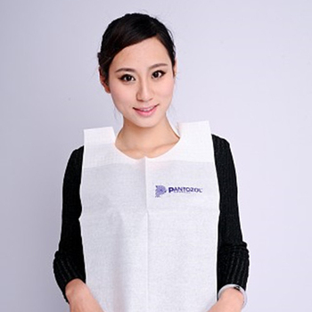 Anheng brand top plastic adult bib dentist use High quality Disposable adult bib with pocket disposable adult paper bib