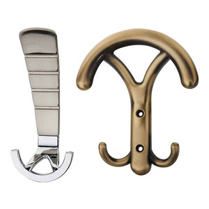Decorative Metal Wall Mount Coat Hat Clothes Hook Rack with Heavy Duty Hanger Hook