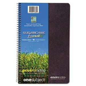 Roaring Spring Products - Roaring Spring - Environotes Wirebound Notebook, 6 1/2 x 9, 1 SUBJ, 80 Sheets, College, Assorted - Sold As 1 Each - Wirebound securely to keep notebooks contents intact. - Available in four attractive colors. -