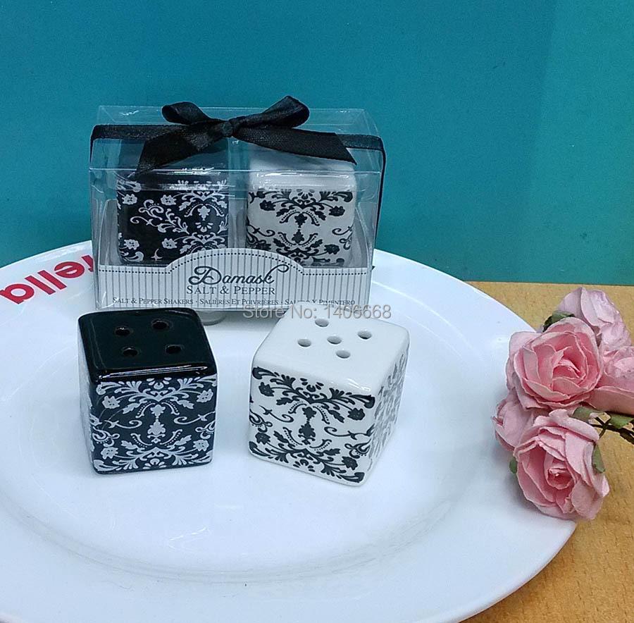 Wedding Gifts Wholesale: Wholesale Best Wedding Favors 60sets/Lot Damask Ceramic