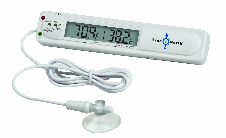 Heathrow Scientific HEA28630 True North Freezer Digital Thermometer, Freezer Range 14.9 to -9.4 Degree F, -23 to -9.5 degree C, Refrigerator range 35.6 to 46.4 degree F, 2 to 8 degree C