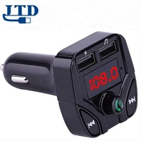 China manufacturer New Fasion Bluetooth Car Kit FM Transmitter MP3 Player With LED Dual USB 3.1A Quick Charger Voltage Display