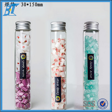 Wholesale various size glass tube with screw cap