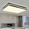 personality simple square black and white striped iron ceiling lamps for conference room