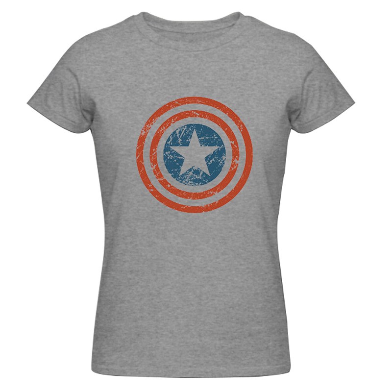 1743dff3 Get Quotations · Summer Style Women Fashion Tee Shirt Captain America Shirts  Unique Custom Women T-shirt High