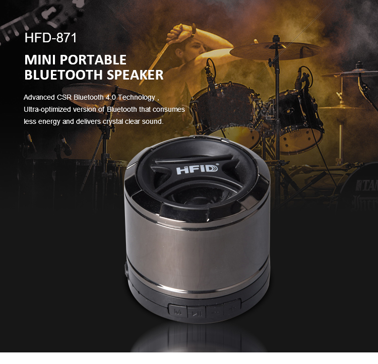 heavy bass mobile sound box speaker support TF card Aux in