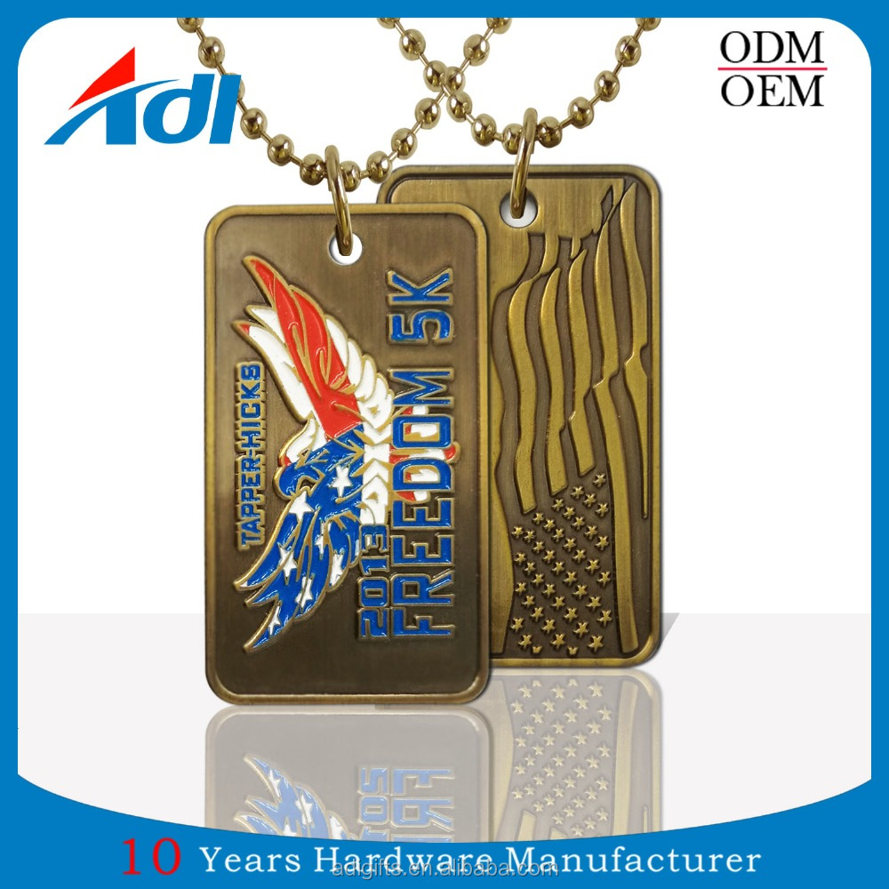 Metal Craft Gifts Custom Personalized Shape Dog Tags For Men