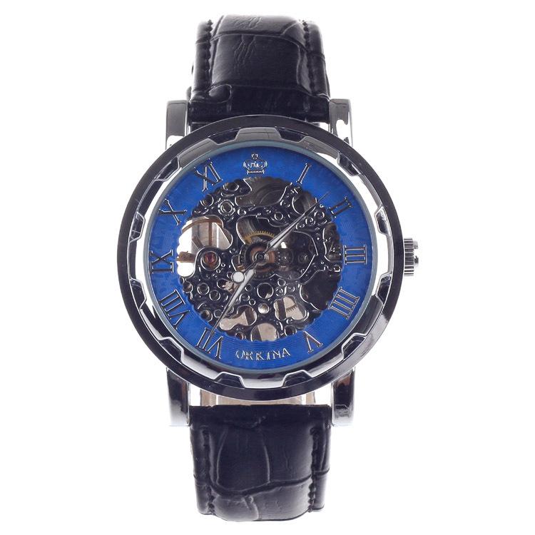 f80df0fbf807 Get Quotations · Watch Men Leather Strap Montre Homme Luxe Steampunk  Wristwatch Stainless Steel Relogio Masculino Luxury Brand reloj