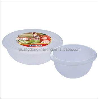 Round Food Storage Container Transparent Plastic Cover Salad Bowl