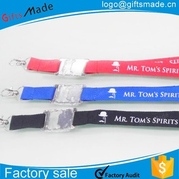 single custom funny sublimation bottle opener lanyard