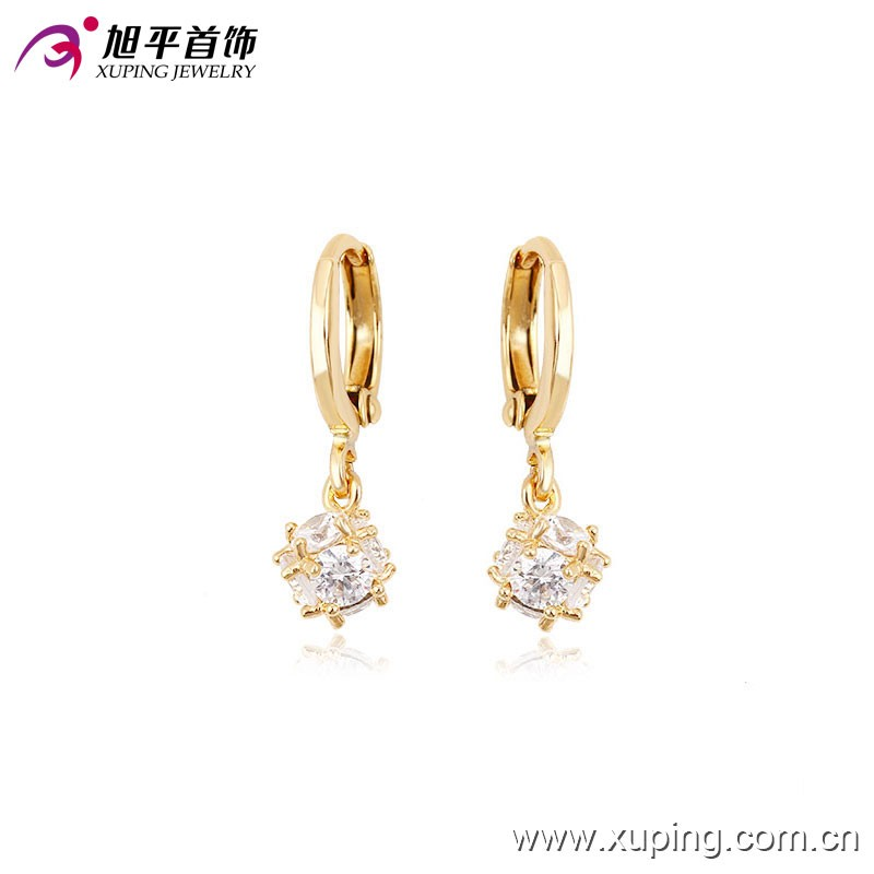 90072 Xuping Fashion High Quality 18K Gold Plated Earring