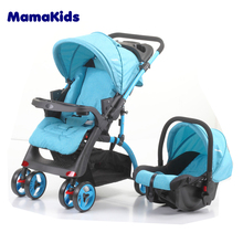 2017 cheap price Foldable baby pram 2 in 1/Wholesale baby stroller/Baby pram with AS