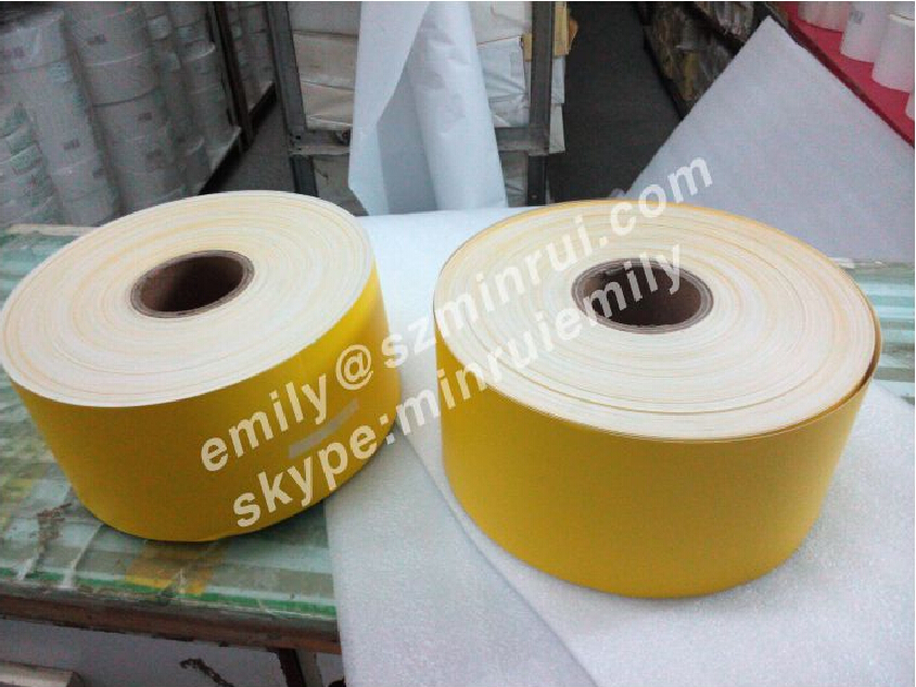 Custom Yellow Face Eggshell Sticker Paper Material