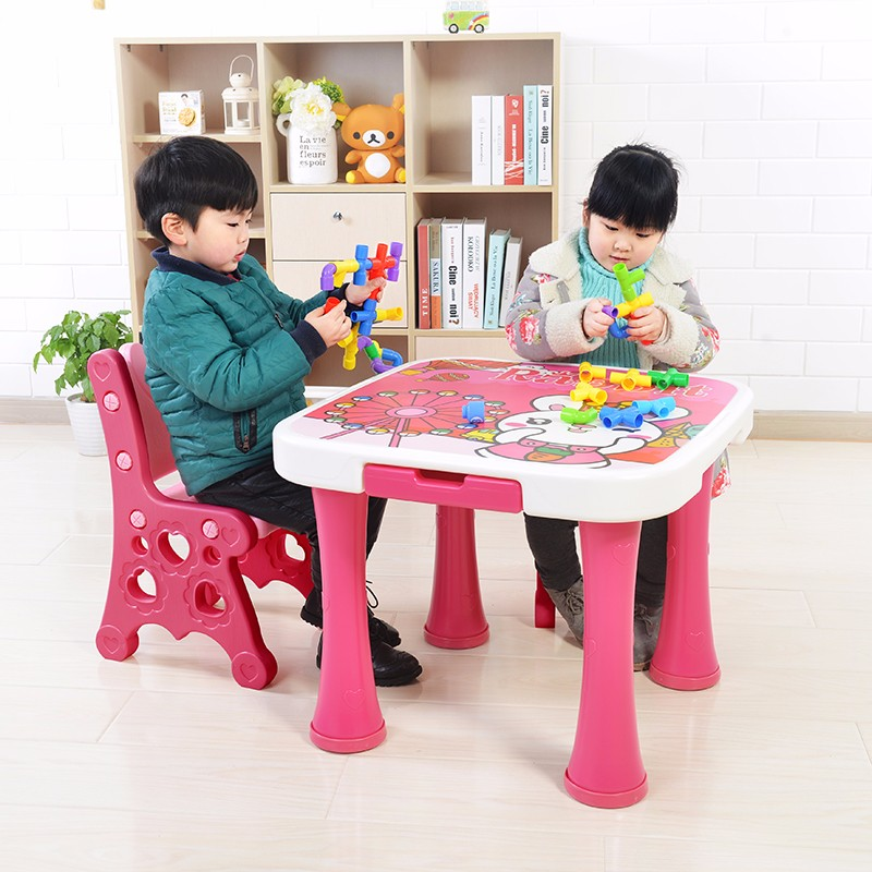 kids and childrens plastic table and chair set buy table. Black Bedroom Furniture Sets. Home Design Ideas