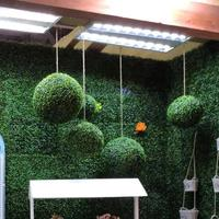 Artificial Grass Round Ball Ornaments For Wedding Home Office Decorative Craft Accessory