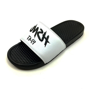 Greenshoe custom men slides footwear ,men slides slipper sandals custom logo pvc slipper, custom logo slide sandal