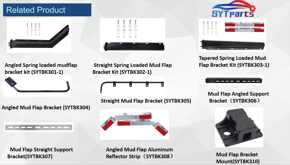 Hot sale Spring loaded mud flap bracket for truck