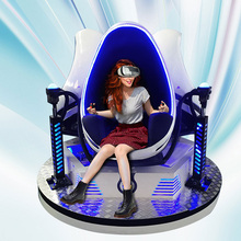 2016 Newest 9d cinema Real Feeling Virtual Reality Simulator High Quality experience 3 Seats 360 Degree egg VR Cinema Simulator