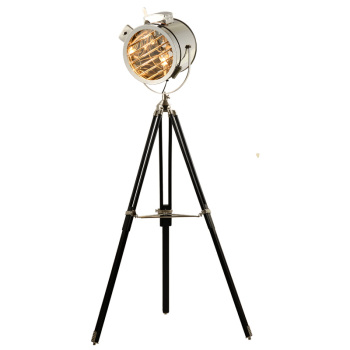 Modern Industrial vintage lamp natural wooden LED tripod indoor floor lamp