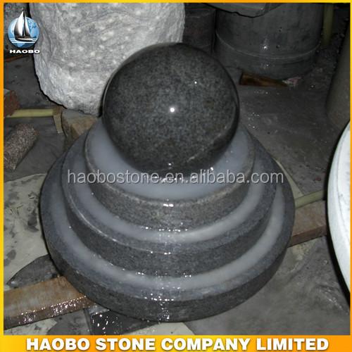Haute qualit pierre rolling ball eau fontaine dans le shanxi noir avec globe produits en pierre - Pierre eau pokemon noir ...