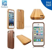 High Quality For iPhone 5 5S Wood Bamboo Hard Case In Stock