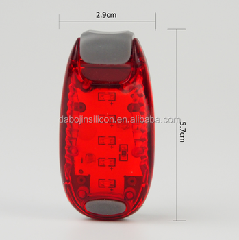 red Bag light 5 led Light with Clip(3light 2stapes 1 screwdriver )