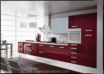 Wall Mounted Cabinets For Kitchen Purple Color Can Match Lighted Mirror