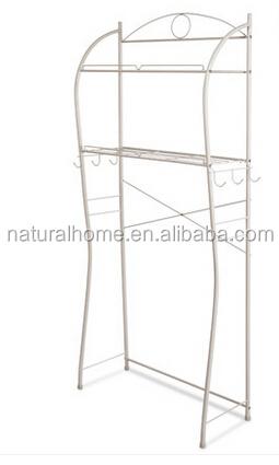 hohe qualit t wei schwarz metall lagerregal f r bad wc 3 tiers raumwunder dusche regal. Black Bedroom Furniture Sets. Home Design Ideas