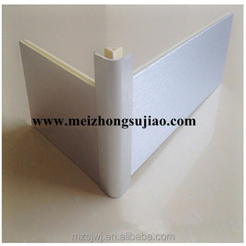 Aluminum brushed plastic kitchen cabinet baseboard corner for Brushed aluminum kitchen cabinets