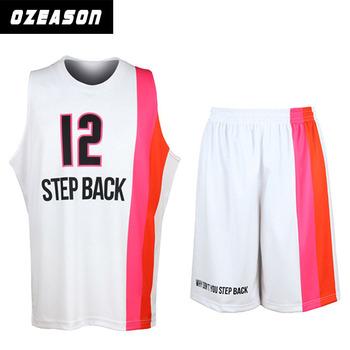 44ebb0fb2e5 High quality womens and mens custom pink basketball uniforms made in china