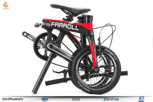 14 inch durable foldable bicycle carbon fiber land rover folding bike