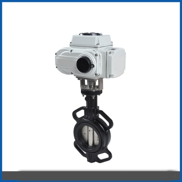 Electric operated medium flow control gas oil hot water ball valve