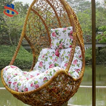 Outdoor Leisure Swing Garden Furniture Metal Frame Weave Poly Rattan