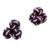 factory supply twin coloured knit cufflink fabric for men
