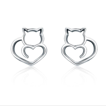 Earring Cut Cat Erring Sampled S925 Silver Jewelry 925 Sterling Whole Price Per Gram Product