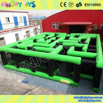 Green Inflatable Maze, Inflatable Laser Maze, Laser Tag Arena Maze