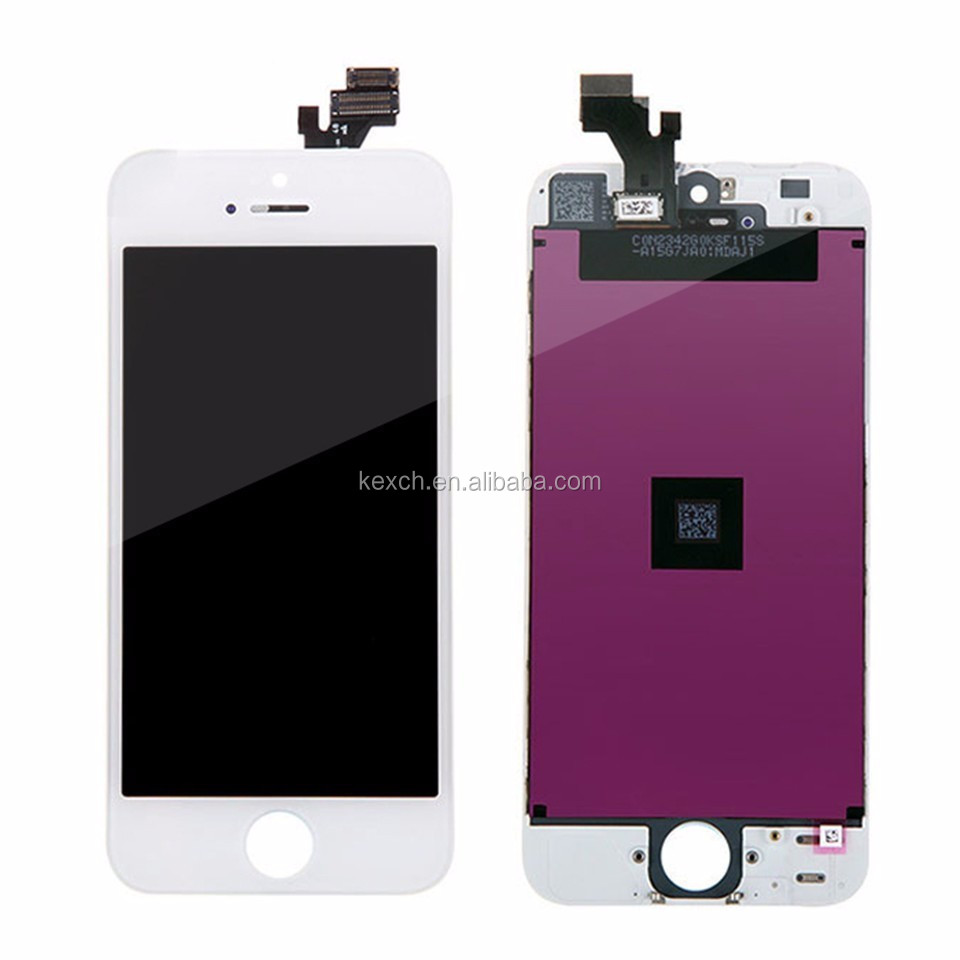 "Factory price high quality Lcd For Iphone 5 Lcd And Digitizer Assembly,For Iphone 5"" Lcd,For Iphone 5 Lcd Screen black and white"