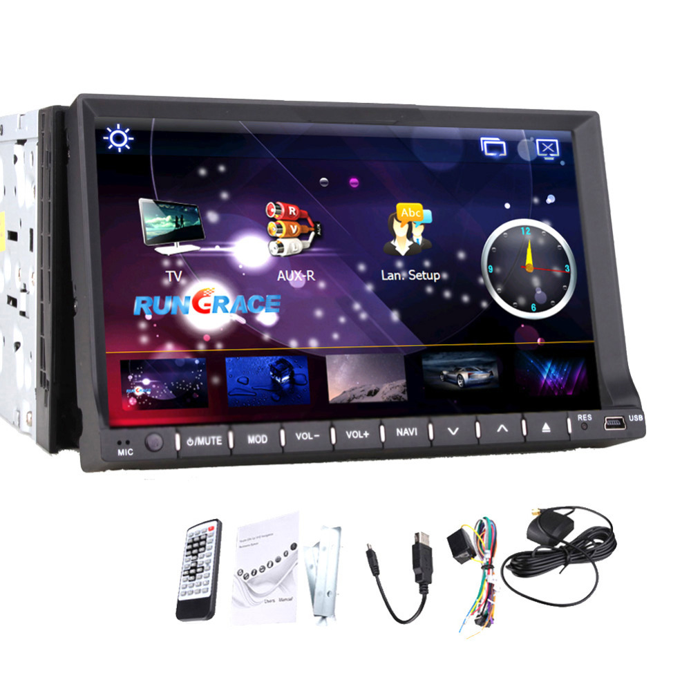 Car DVD CD Video Mp3 Player Interchangeable Car Stereo 2