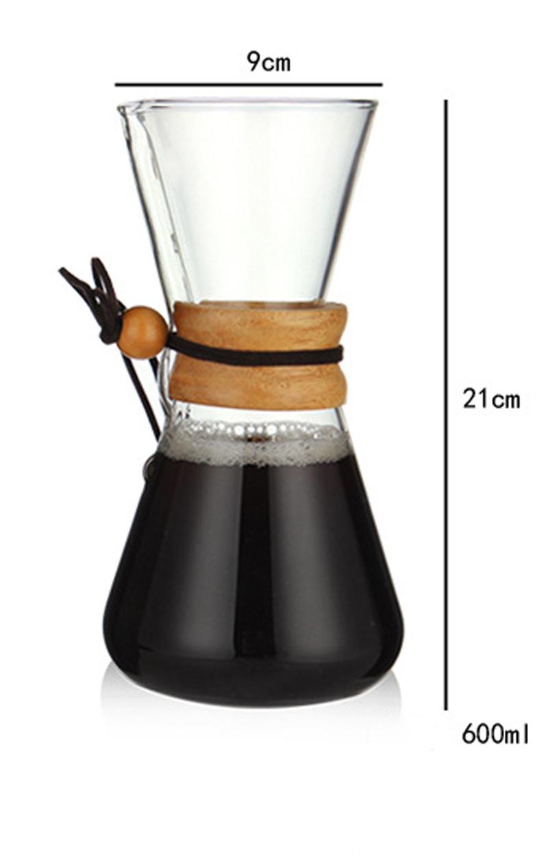 400 мл 600 мл 800 мл стойкая стеклянная Кофеварка кофейник Эспрессо кофемашина с фильтром из нержавеющей стали(Китай)