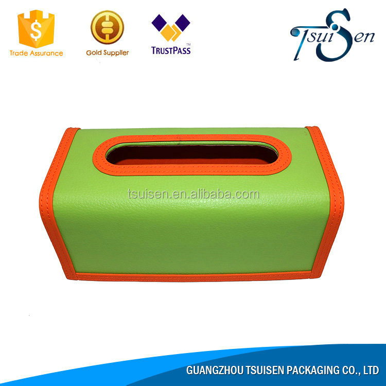 Red tissue box cubby box Best discount leather box from alibaba store