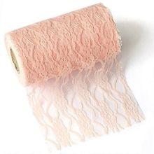 25 ярдов рулон кружевной ленты, ткань 6 дюймов, широкая, длинная, для свадебной вечеринки, украшения 7LS04(Китай)
