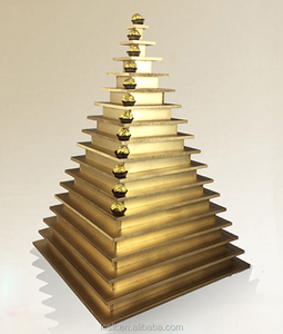 DIY wedding decoration stand egyptian wood pyramid