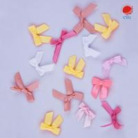 CYG Mini Satin Ribbon Bows Flowers DIY Craft Pink White Customize Color
