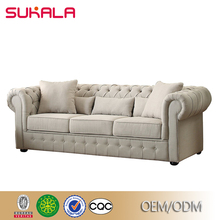 Buy modern patchwork white fabric chesterfield sofa from china