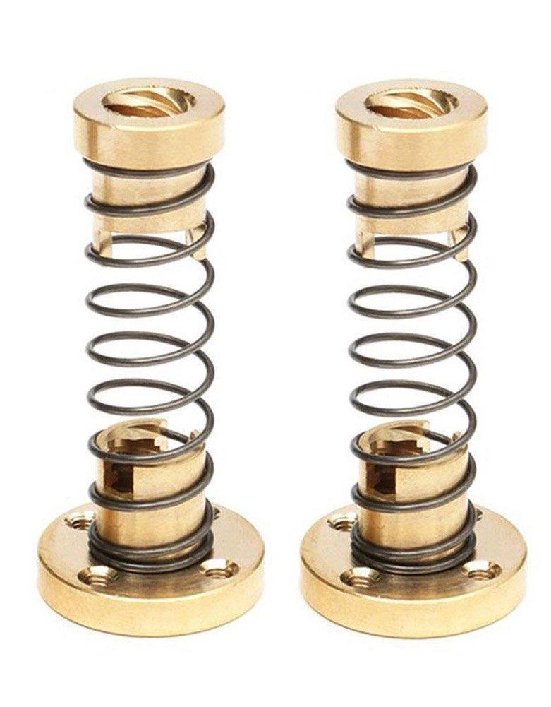 Zomiee T8 Anti Backlash Spring Loaded Nut Elimination Gap Nut for 8mm Acme Threaded Rod Lead Screws