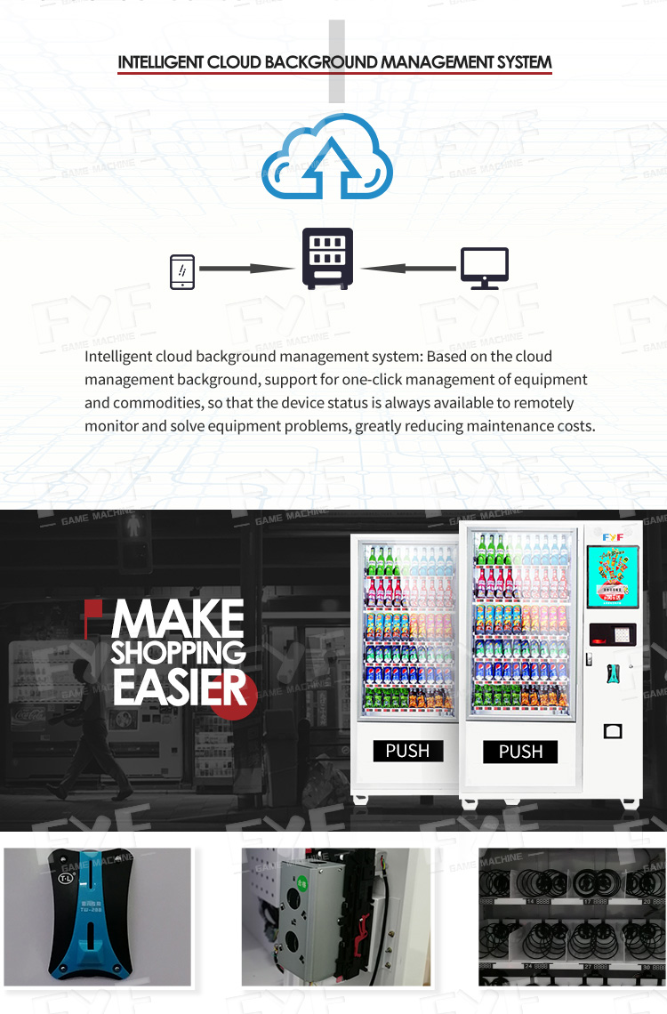 Fyf Smart Electronic Comb Lucky Bags Digital Self Vending Machine