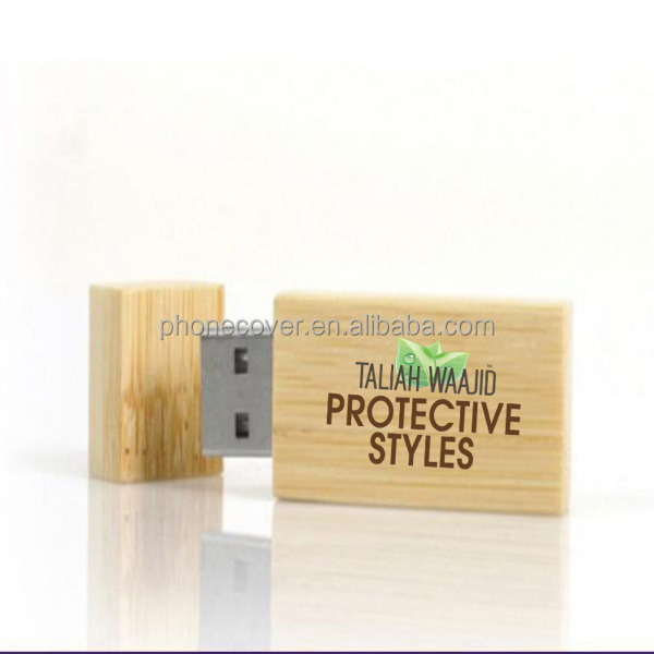 promotional present wood USB 2.0 for chirstmas gift,printing wood box for wedding