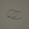 BXG019 Stainless Steel Ear Wires Wine Charm Hoops , earring findings for Jewelry-Making