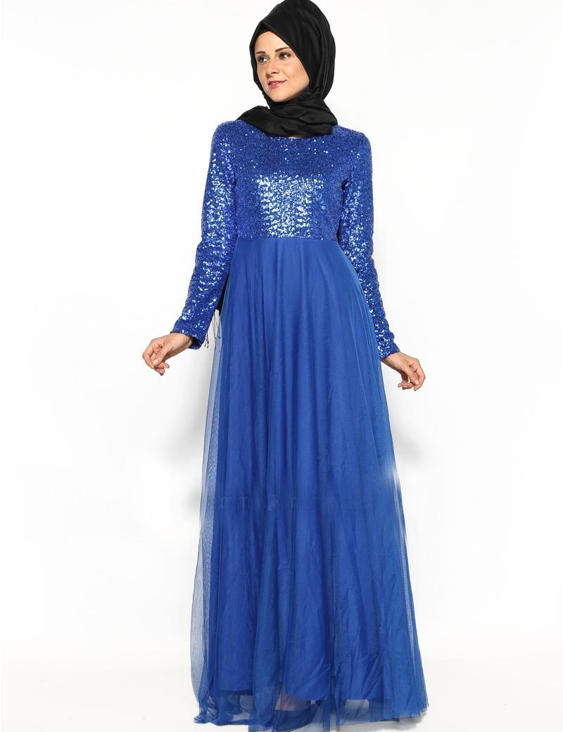 Buy Vintage A Line purple muslim long dress Long Sleeve Arabic ...