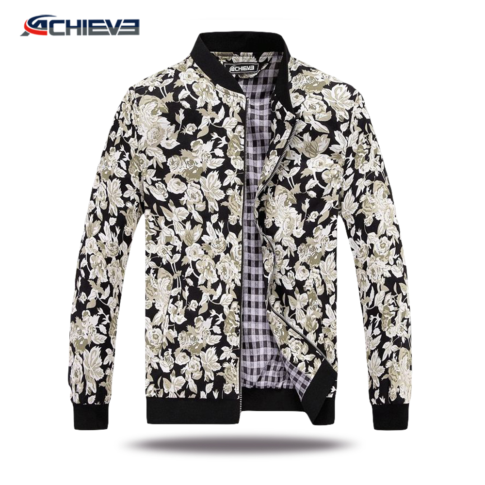 New design full printing track suits for men jogging zipper windbreaker jacket